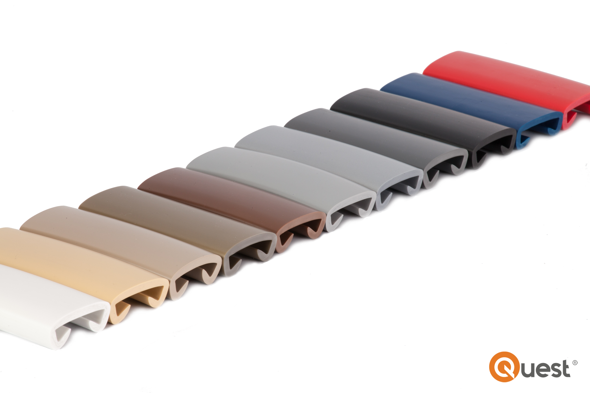 10m PVC Handlauf Treppenhandlauf Kunststoffhandlauf 40x8 mm silber
